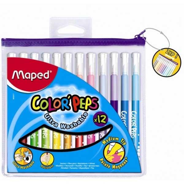 Фломастеры Maped Color'Peps 845017, 12 цветов, 1мм, 845017