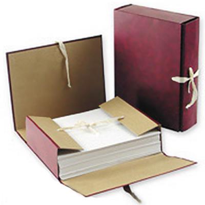 Архивная папка на завязках Attache, А4, 80 мм, красная