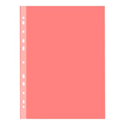 Файл-вкладыш А4 Esselte Standard, А4, глянец, 55мкм, красный, 10 шт/уп
