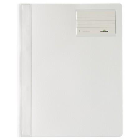 Скоросшиватель пластиковый Durable 250002, А4+, белый, 2500-02