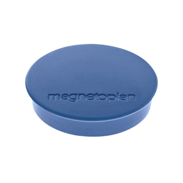 Магниты для магнитной доски Magnetoplan Standart 1664214, d=30мм, синие, 10шт/уп