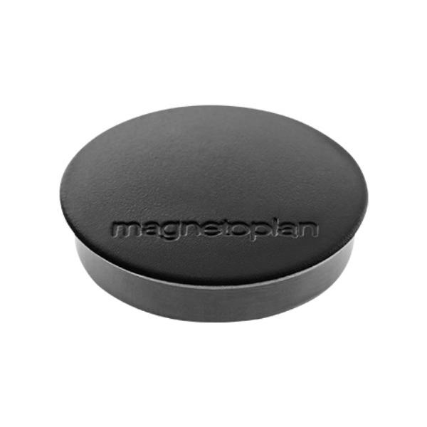 Магниты для магнитной доски Magnetoplan Standart 1664212, d=30мм, черные, 10шт/уп