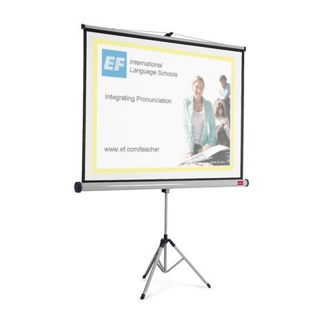 Экран для проектора мобильный Nobo АССО Brands 33938274, 1902395, 4:3, 113х150см, на треноге