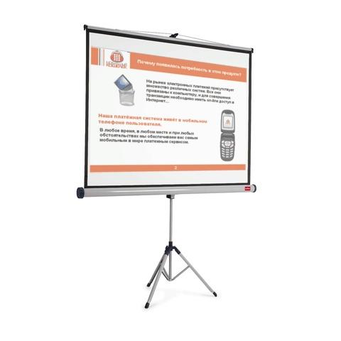 Экран для проектора мобильный Nobo АССО Brands 1900033, 1902397, 4:3, 151х200см, на треноге