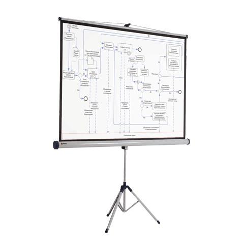 Экран для проектора мобильный Nobo АССО Brands 1902396, 4:3, 133х175см, на треноге