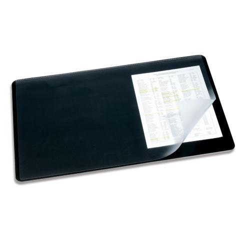 Коврик настольный для письма Durable 720201, 40х53см, с карманом, черный, 720201