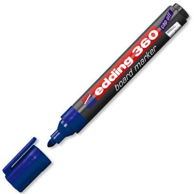 Маркер для досок Edding 360, синий, 1,5-3мм