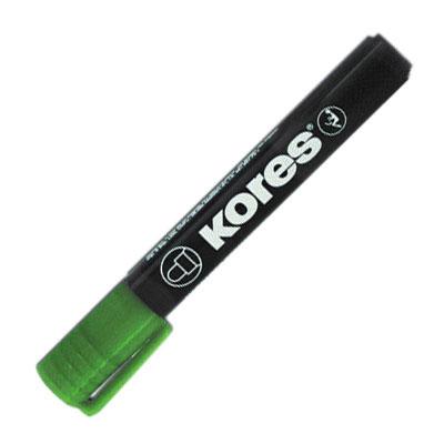 Маркер перманентный Kores, зеленый, 3мм, круглый наконечник