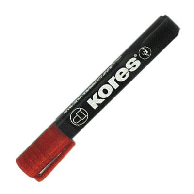 Маркер перманентный Kores, красный, 3мм, круглый наконечник