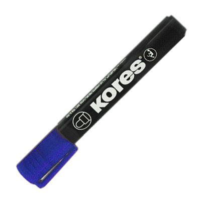 Маркер перманентный Kores, синий, 3мм, круглый наконечник