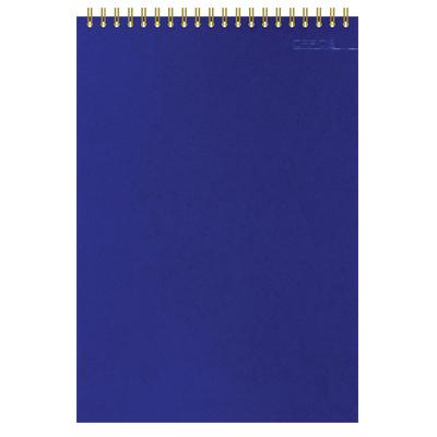 Блокнот Микровельвет, А6, 50 листов, в клетку, синий