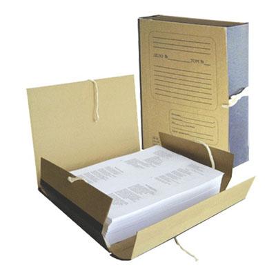 Архивная папка на завязках, А4, 80 мм, красная