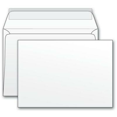 Конверт почтовый С6 Родион Принт, белый, стрип, 1000 шт