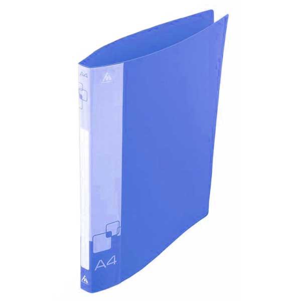 Папка на 2-х кольцах Бюрократ 0818/2RBLU, А4, 18 мм, синяя
