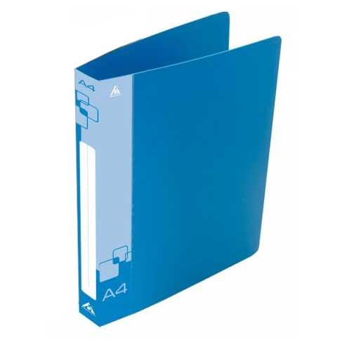 Папка на 2-х кольцах Бюрократ 0812/2RBLUE, А4, 40 мм, синяя