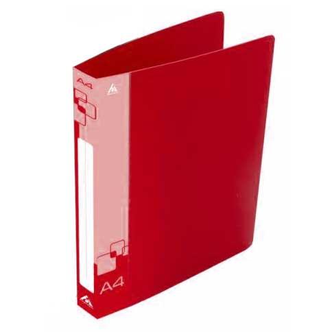 Папка на 2-х кольцах Бюрократ 0812/2RRED, А4, 40 мм, красная