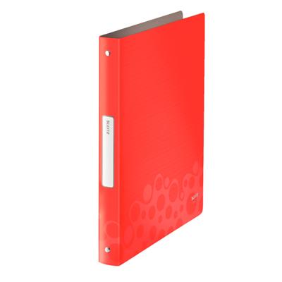 Папка на 4-х кольцах Leitz Bebop 45670025, А4, 52 мм, красная