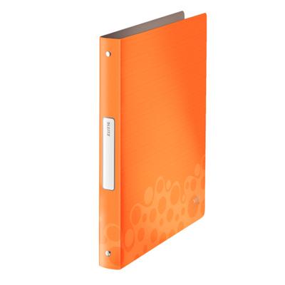 Папка на 4-х кольцах Leitz Bebop 45670045, А4, 52 мм, оранжевая