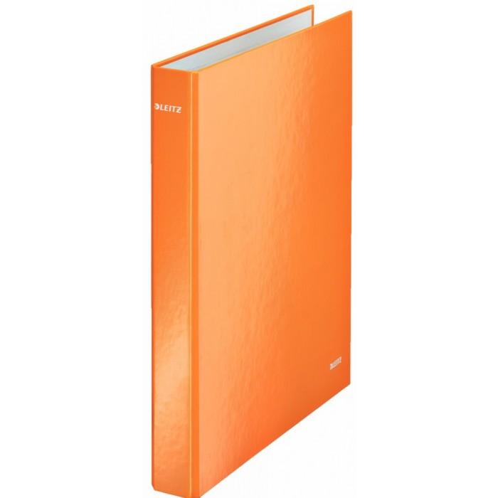 Папка на 2-х кольцах Leitz Wow 42410044, А4, 40 мм, оранжевая