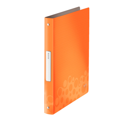 Папка на 2-х кольцах Leitz Bebop 45660045, А4, 32 мм, оранжевая
