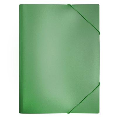 Пластиковая папка на резинке Бюрократ PR05grn, A4, 30мм, зеленая