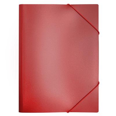 Пластиковая папка на резинке Бюрократ PR05red, A4, 30мм, красная