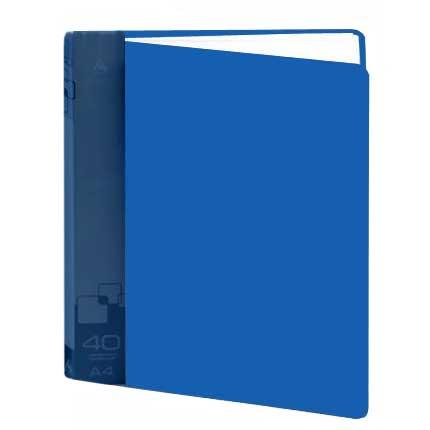 Папка файловая Бюрократ BPV40BLUE, на 40 файлов, А4, синяя