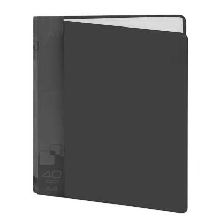 Папка файловая Бюрократ BPV40BLCK, на 40 файлов, А4, черная