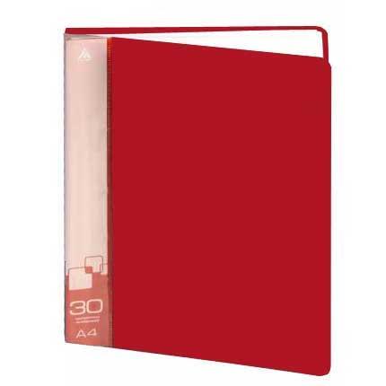 Папка файловая Бюрократ BPV30RED, на 30 файлов, А4, красная