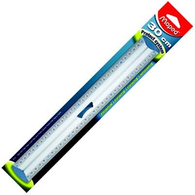 Линейка с пластиковой защитой Maped Aluminium, 30см, 120130, 120130