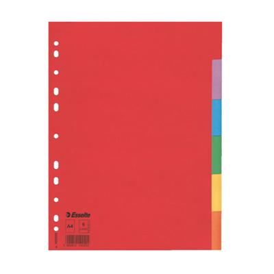 Цветовой разделитель листов Esselte 100200, А4, 6 разделов