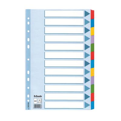 Цветовой разделитель листов Esselte Mylar 100169, А4, 12 разделов