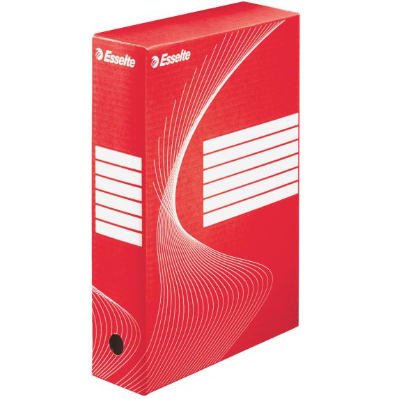 Архивный бокс Esselte Boxy 128412, 80 мм, красный