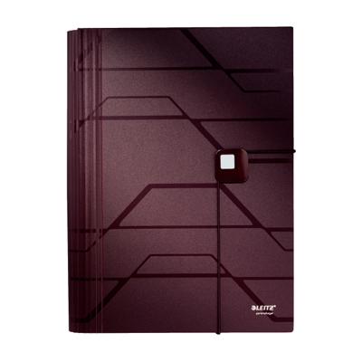 Папка-органайзер Leitz Prestige 46160076, А4, 5 разделов, махагон