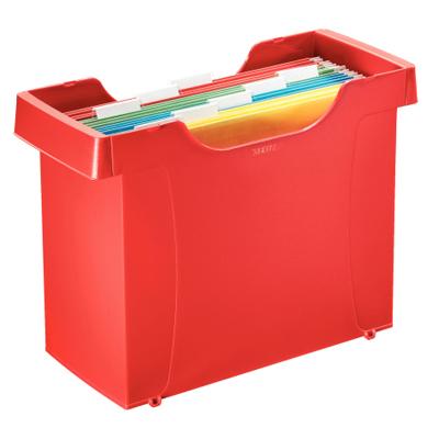 Контейнер для подвесных папок LEITZ PLUS, до 15 папок, красный