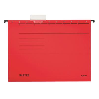 Подвесная папка стандартная А4 Leitz ALPHA Стандарт 19850025, красная