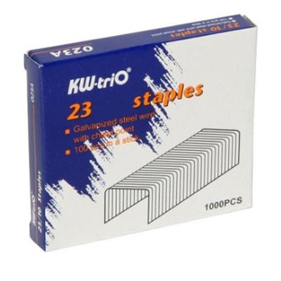 Скобы для степлера KW-Trio 023A, №23/10, 1000шт