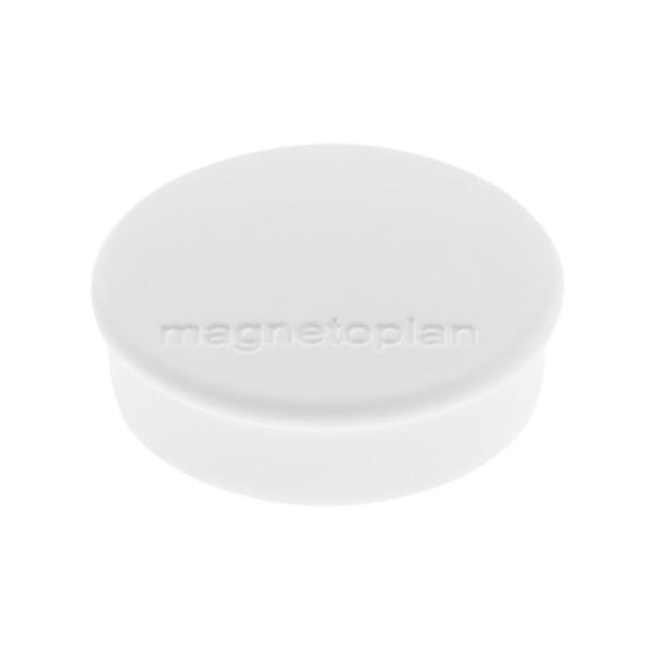 Магниты для магнитной доски Magnetoplan Hobby 1664500, d=25мм, белые, 10шт/уп