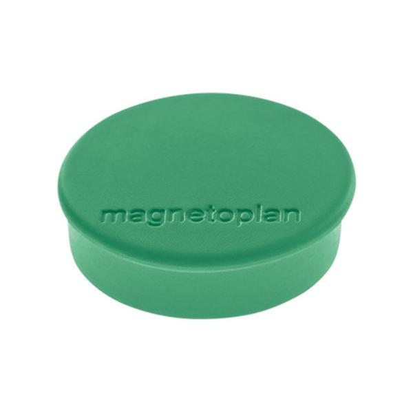 Магниты для магнитной доски Magnetoplan Hobby 1664505, d=25мм, зеленые, 10шт/уп