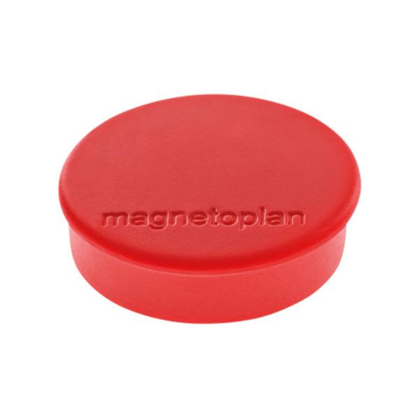 Магниты для магнитной доски Magnetoplan Hobby 1664506, d=25мм, красные, 10шт/уп