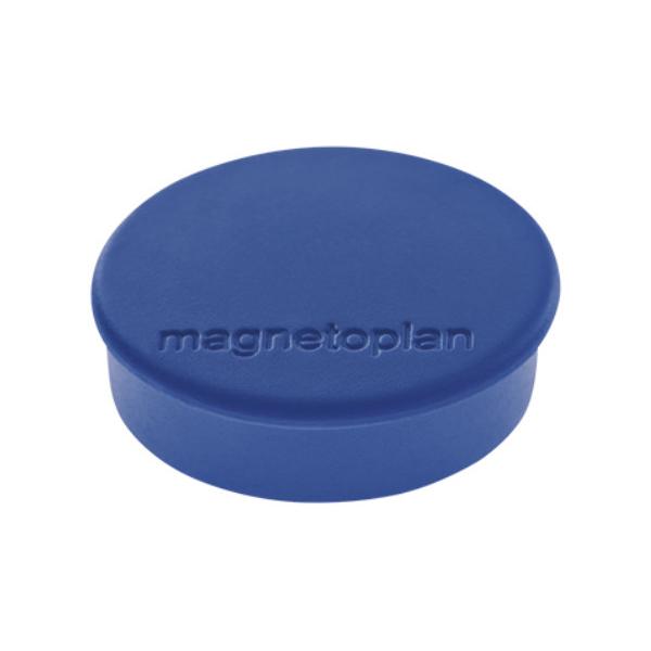 Магниты для магнитной доски Magnetoplan Hobby 1664514, d=25мм, синие, 10шт/уп
