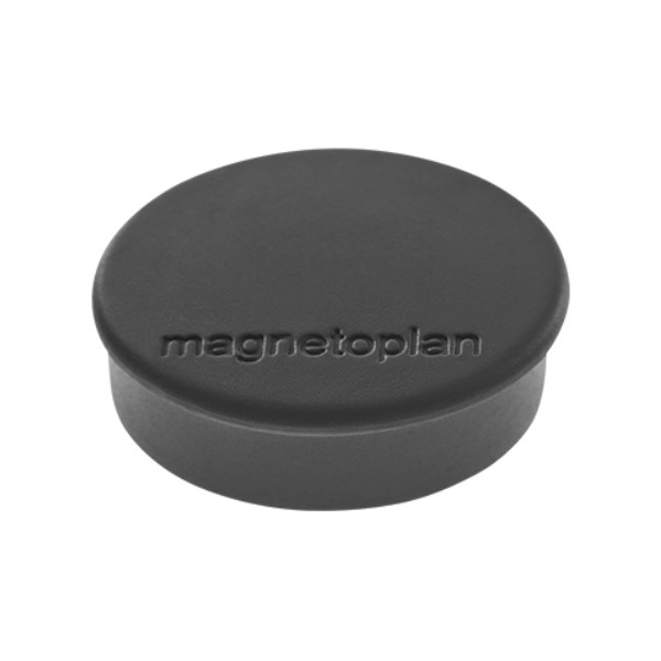 Магниты для магнитной доски Magnetoplan Hobby 1664512, d=25мм, черные, 10шт/уп