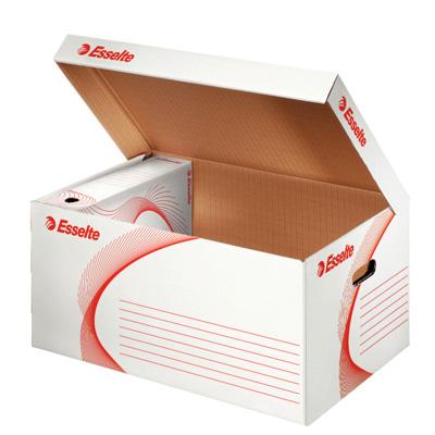 Архивный короб Esselte 128900, 550х365х255 мм, белый