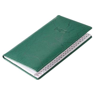 Телефонная книга Brunnen Эмоушен, 8,7 х 15,3см, 48 листов, зеленый