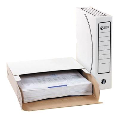Архивный бокс Промтара Офис Стандарт 225, А4, 150 мм, белый