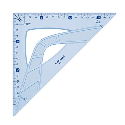 Угольник Maped Geometric, 21см, 45°/45°, 242421, голубой, 242421