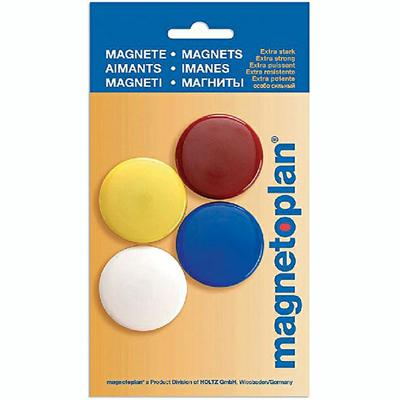 Магниты для магнитной доски Magnetoplan 16664, d=40мм, ассорти, 4шт/уп