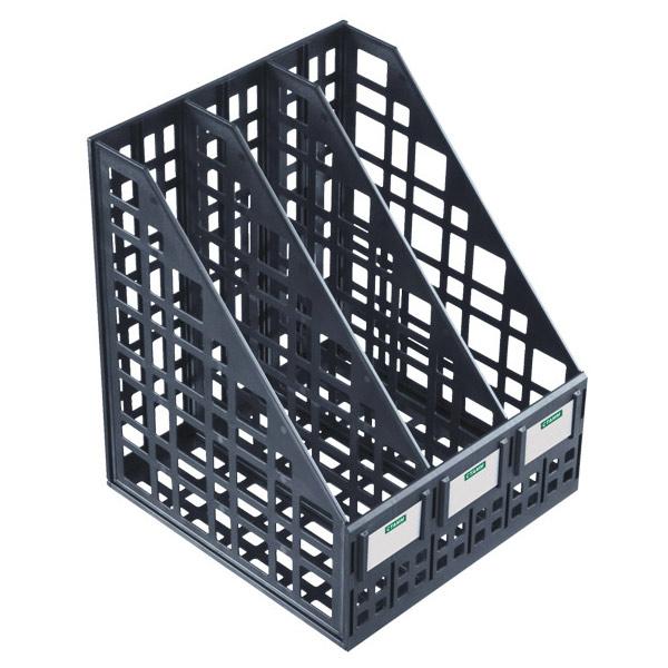 Многосекционный накопитель для бумаг Стамм ЛТ81, 240 мм, 3 секции, черный