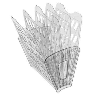 Многосекций лоток для бумаг Стамм ЛТ92, А4, 275х365х325 мм, 5 секций, прозрачный