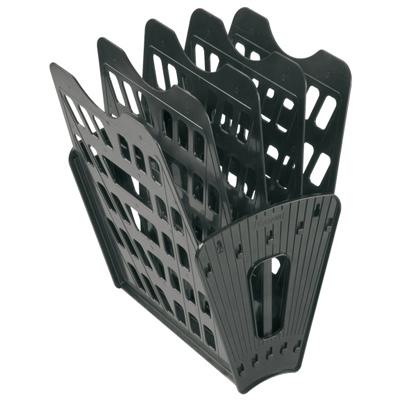 Многосекций лоток для бумаг Стамм ЛТ91, А4, 275х365х325 мм, 5 секций, черный